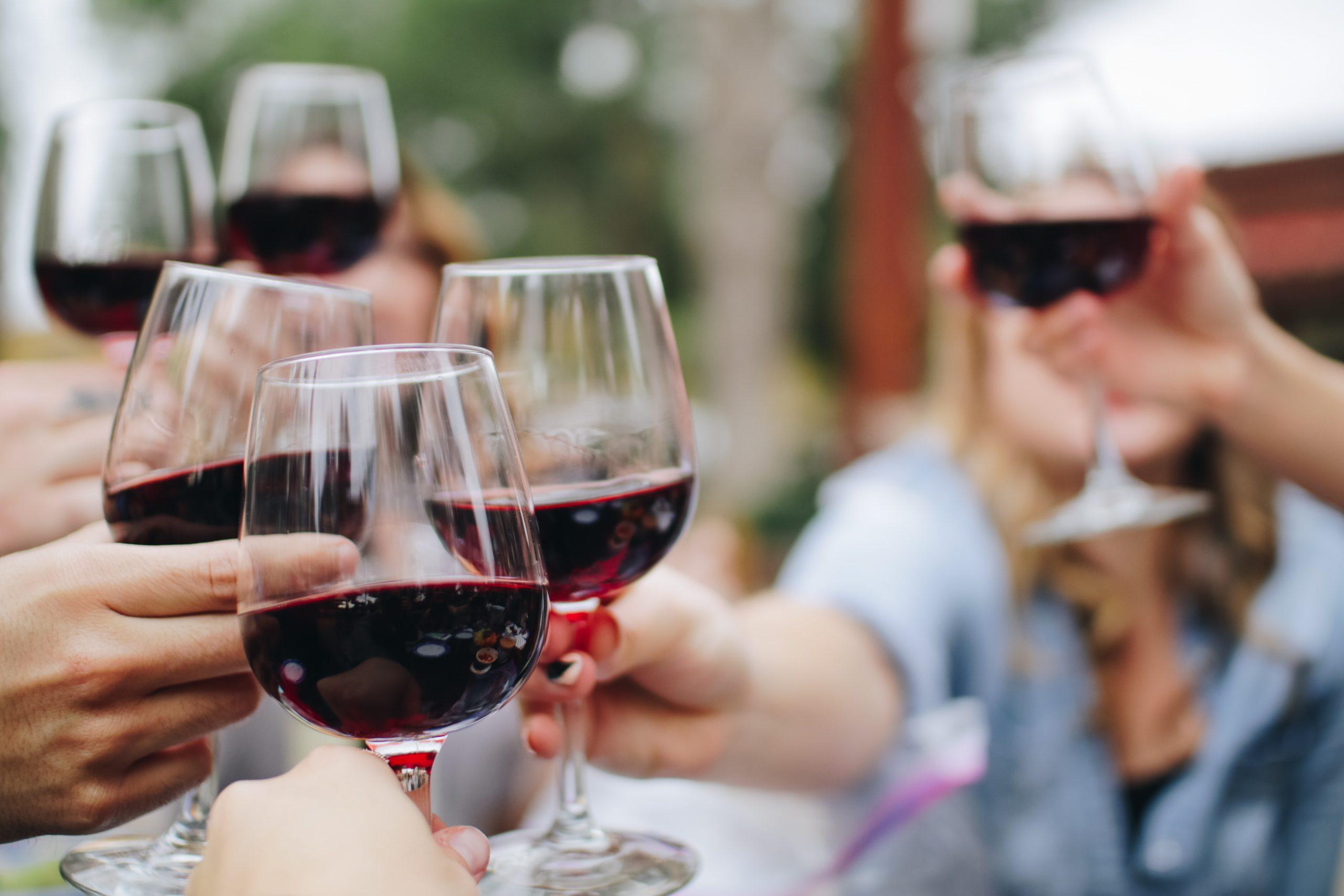 groupe partageant un moment convivial autour d'un verre de vin