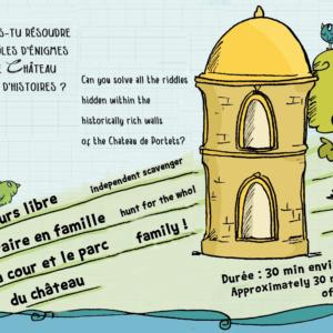 Affiche jeu de piste au Château de Portets