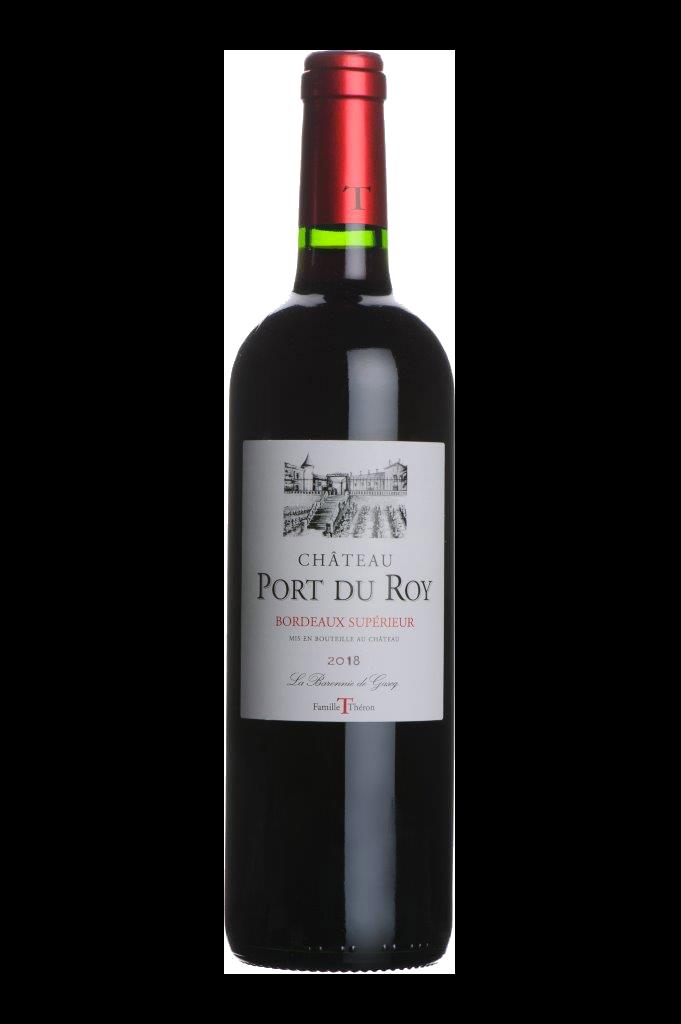 Bouteille de vin Port du Roy Bordeaux supérieur 2018
